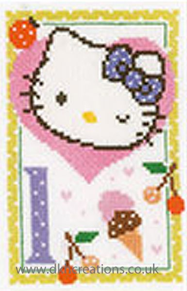 Hello Kitty Alphabet Letter L Cross Stitch Kit
